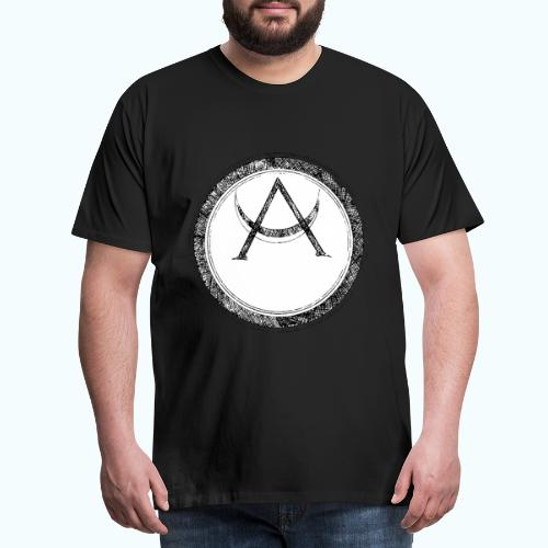 Mystic motif with sun and circle geometric - Men's Premium T-Shirt