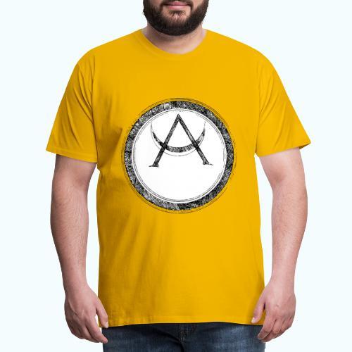 Mystic motif with sun and circle geometric - Men's Premium T-Shirt