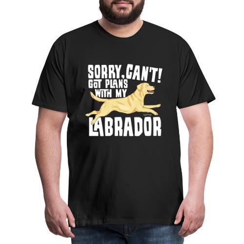 Labrador Plans My - Miesten premium t-paita