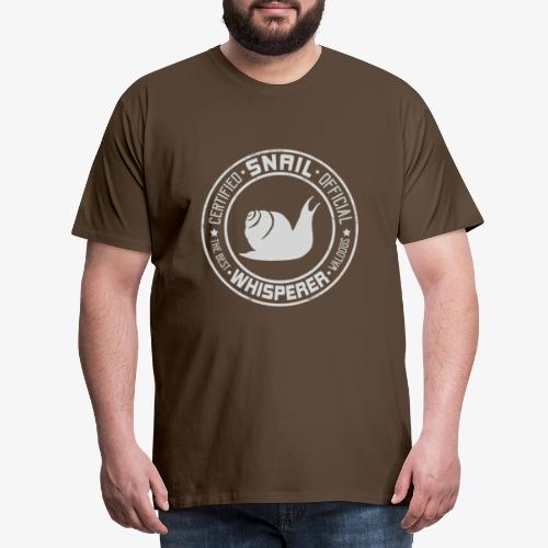 Snail Whisperer Grey - Miesten premium t-paita