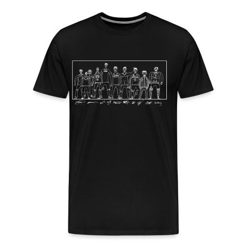 cldt drawnBLACK SHIRT - Men's Premium T-Shirt