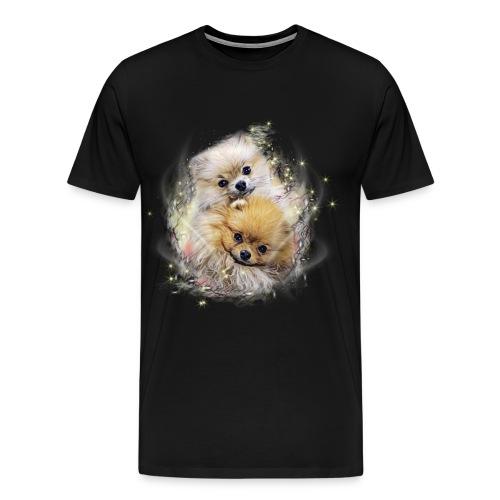 Pomeranian Shirt - Fluffypom Paar - Zwergspitz - Männer Premium T-Shirt