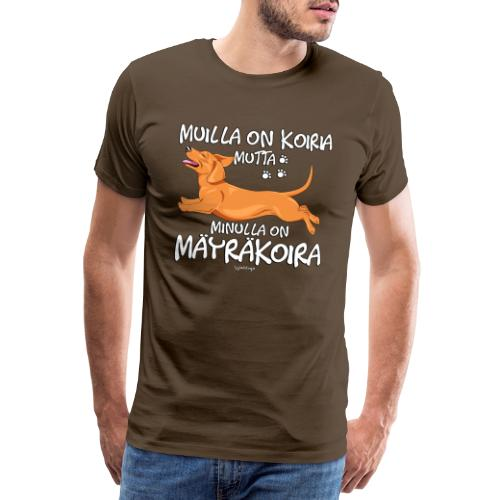 Mäyräkoira LK Koiria - Miesten premium t-paita