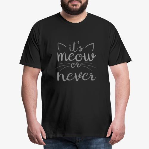 Meow Or Never II - Miesten premium t-paita