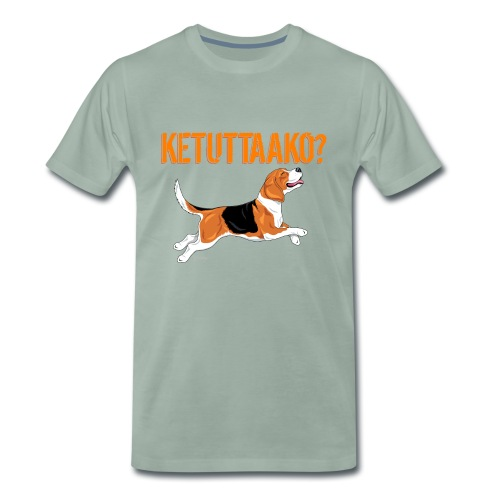 Ketuttaako Beagle - Miesten premium t-paita