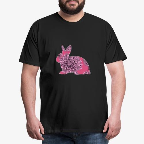 Flower Rabbit II - Miesten premium t-paita