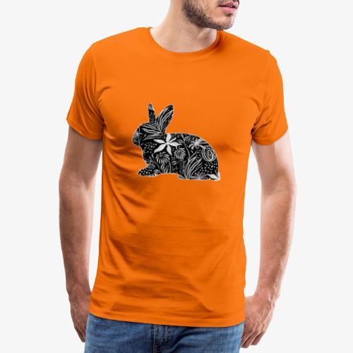 Flower Rabbit - Miesten premium t-paita
