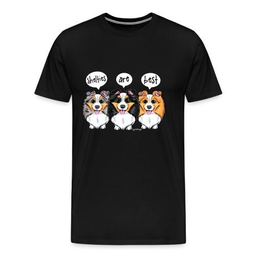Shelties Are Best - Men's Premium T-Shirt