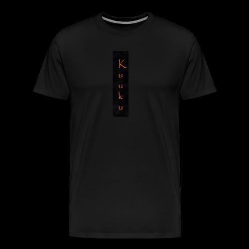 kuuku teksti - Miesten premium t-paita