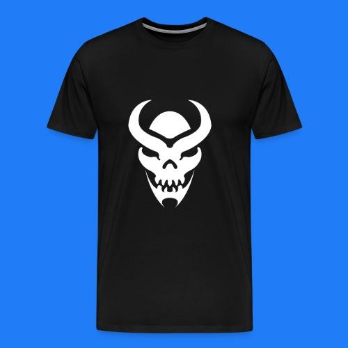 TRIBAL SKULL BLANC - T-shirt Premium Homme