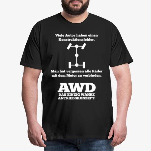4WD AWD 4x4 Allrad Konstruktionsfehler - Männer Premium T-Shirt