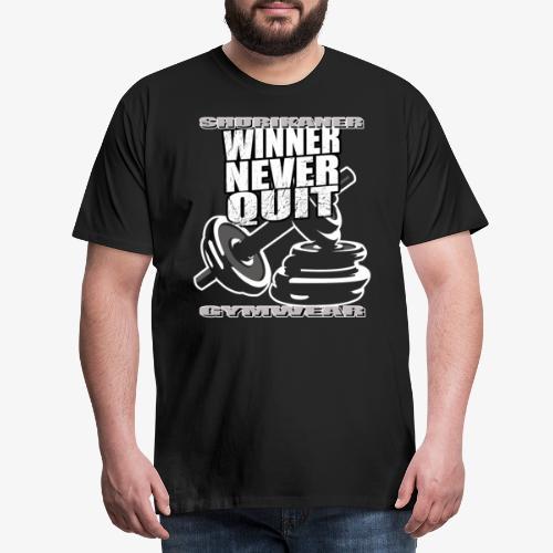 Winner Never Quit shurikaner Fitness - Männer Premium T-Shirt