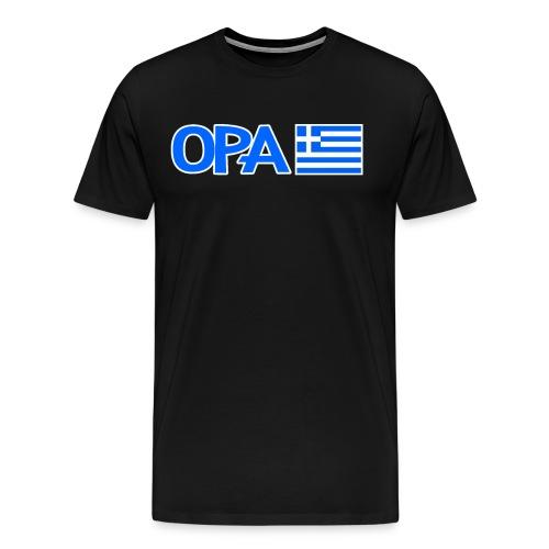 Greek Opa. Greek Flag. Cool Greek Vacation - Männer Premium T-Shirt