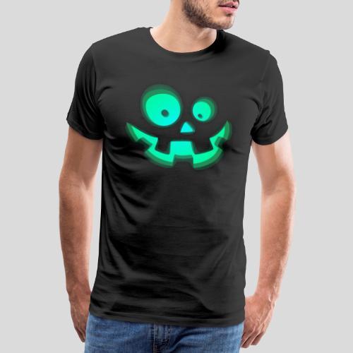 Halloween Kürbis Kostuem Verkleidung Blau Türkis - Männer Premium T-Shirt