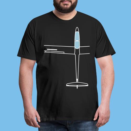 Segelflugzeug von oben Segelflieger gleiten - Männer Premium T-Shirt