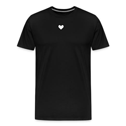 Hjerte - Herre premium T-shirt