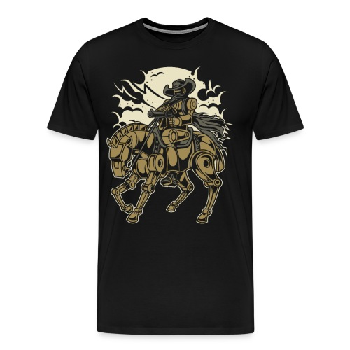 Steam Punk Cowboy - Männer Premium T-Shirt