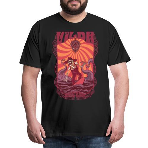 Vilda Surfer - Premium-T-shirt herr