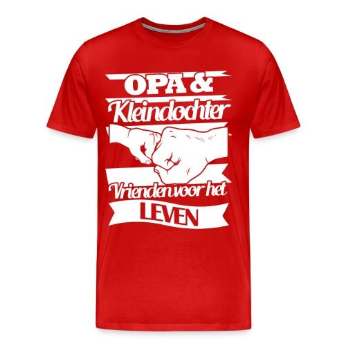 Opa en kleindochter vrienden voor het leven - Mannen Premium T-shirt