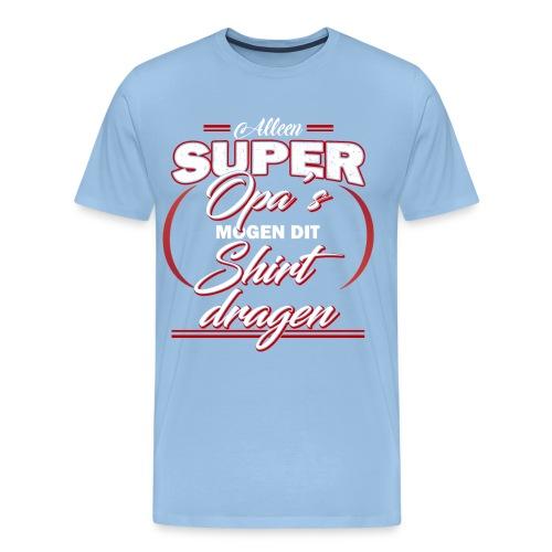 Alleen super opa's vaderdagcadeau - Mannen Premium T-shirt