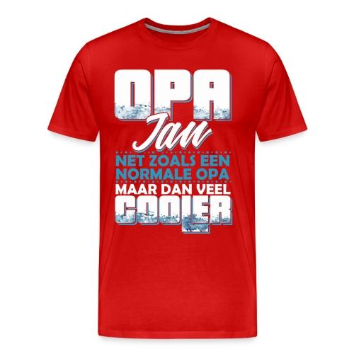 Opa Jan net zoals een normale opa, veel cooler - Mannen Premium T-shirt