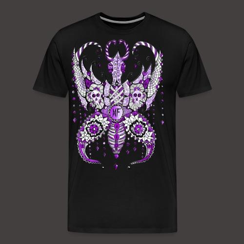 Papillon Lilou Violet - T-shirt Premium Homme