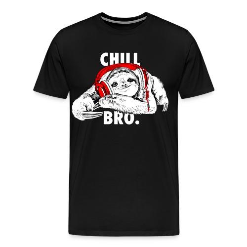 Lustiges Faultier mit Kopfhörern - Chill Bro - Männer Premium T-Shirt