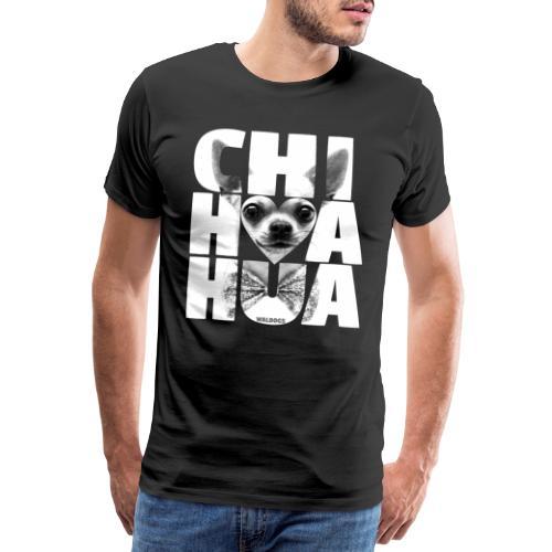 NASSU Chihuahua Grey - Miesten premium t-paita