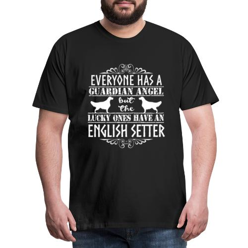 English Setter Angels - Miesten premium t-paita