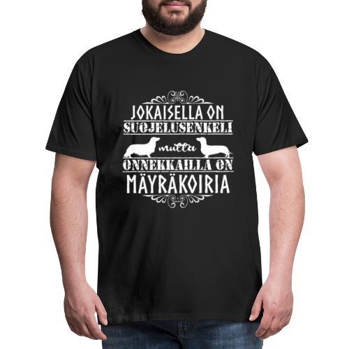 Mäyräkoira PK LK Enkelit 2 - Miesten premium t-paita