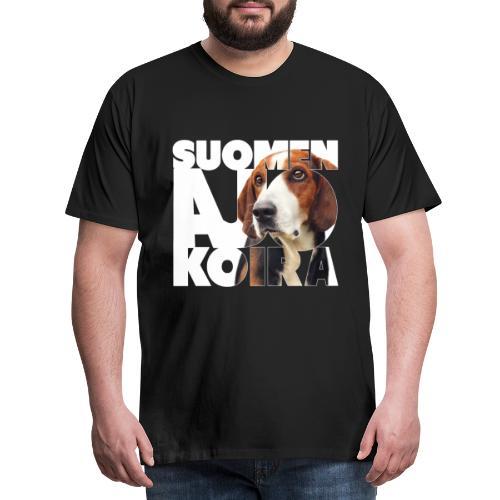 Suomenajokoira I - Miesten premium t-paita