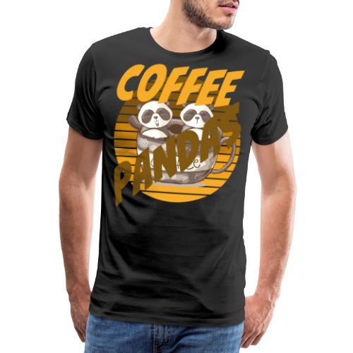Coffee Pandas Coffee Color Zwei Pandas Kaffeetasse - Männer Premium T-Shirt