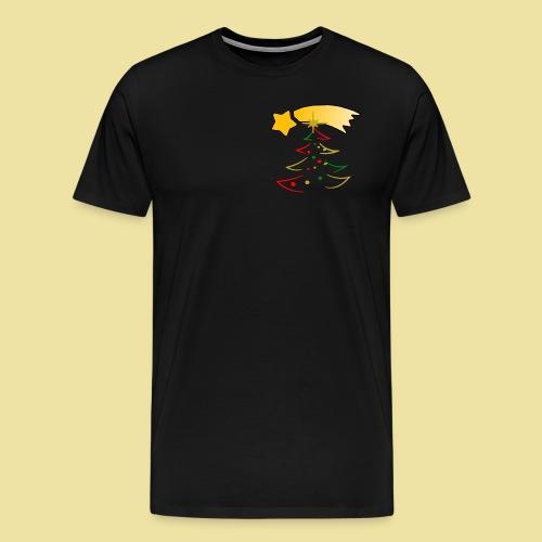 Weihnachtsbaum mit einer Sternschnuppe - Männer Premium T-Shirt