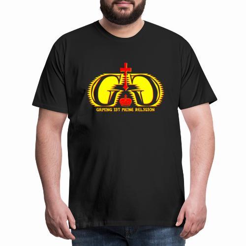Gaming ist meine Religion [Gelb] - Männer Premium T-Shirt