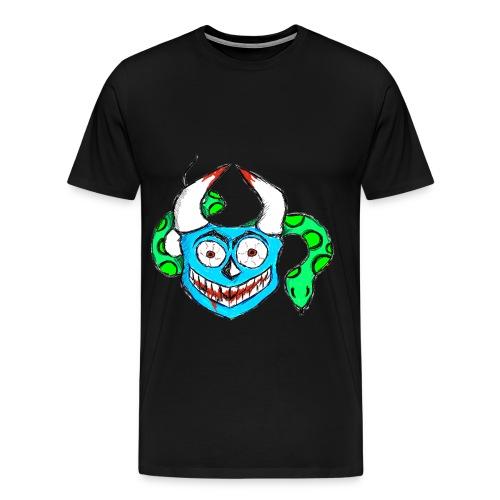 Verrückte Maske Blau - Männer Premium T-Shirt