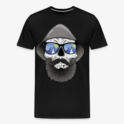 Totenkopf mit sonnenbrille und hut - Männer Premium T-Shirt