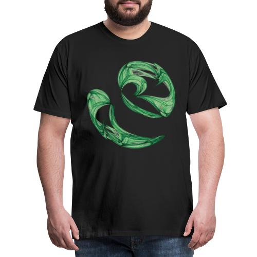 Unequal pair of green twins in the wind 7761alg - Men's Premium T-Shirt