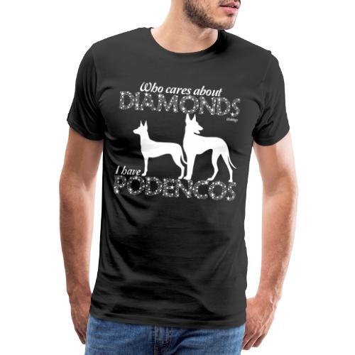 Podenco Diamonds II - Miesten premium t-paita