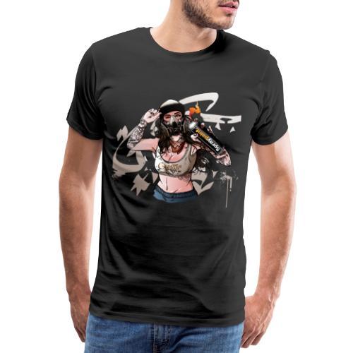 Graffiti Sprayerin 2 - Männer Premium T-Shirt