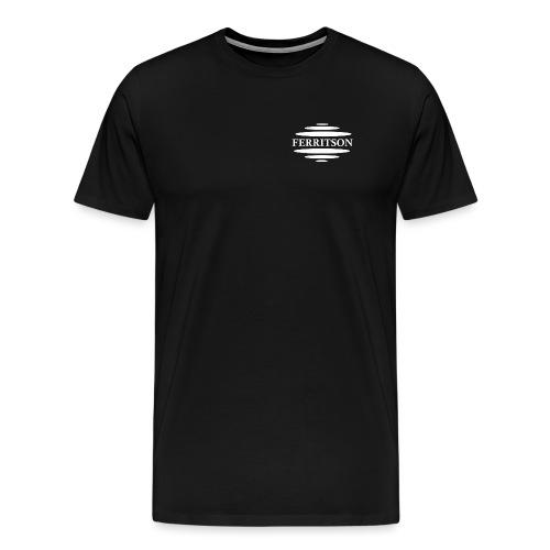 wit logo - Mannen Premium T-shirt