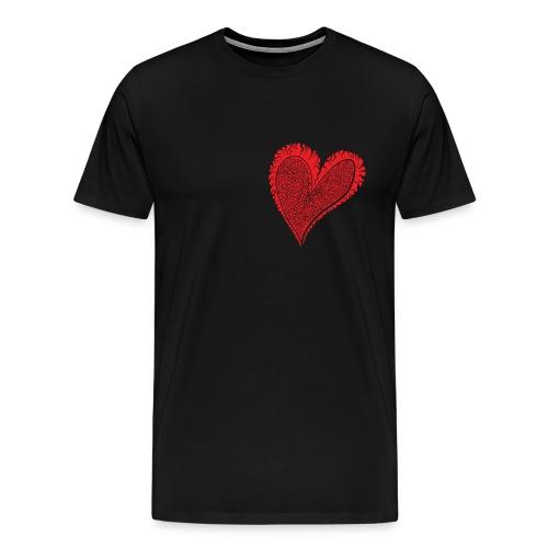 Curly Heart Filled - Men's Premium T-Shirt
