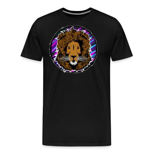 Neon Lion Womens Tee Small Image - Men's Premium T-Shirt