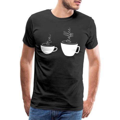0255 coffee or tea   Best friends - Men's Premium T-Shirt