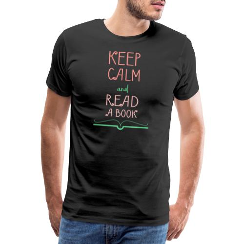 0276 reader | Keep Calm | Reading | Book | Books - Men's Premium T-Shirt