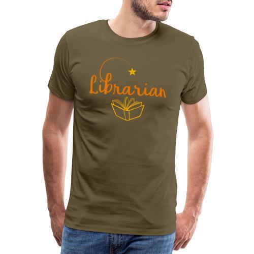 0327 Librarian Librarian Library Book - Men's Premium T-Shirt