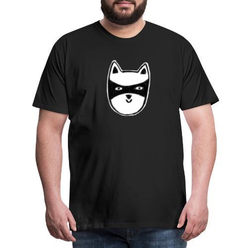 Kater mit Maske - Männer Premium T-Shirt