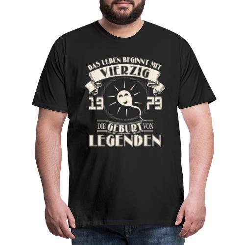 1079, 40. Geburtstag - Das Leben beginnt mit 40 - Männer Premium T-Shirt