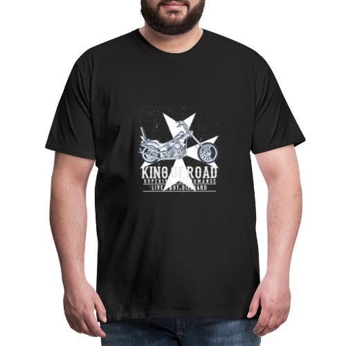 Bike - king of the road - Shirt - Männer Premium T-Shirt