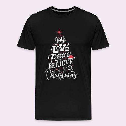 Merry Christmas Weihnachten Tannenbaum T-Shirt - Männer Premium T-Shirt