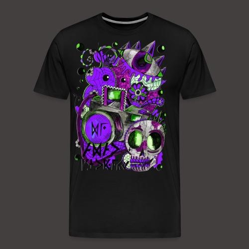 AGAC Picture Vert et Violet - T-shirt Premium Homme